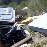 An illegal dump site along Hwy. 74 will be cleaned up soon