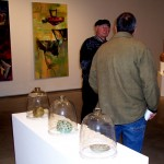 Vance & Rob view the art show