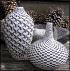 Op Art ceramics by Leslie Thompson